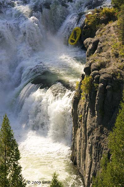 Dan McCain R-1, top fall at Mesa Falls